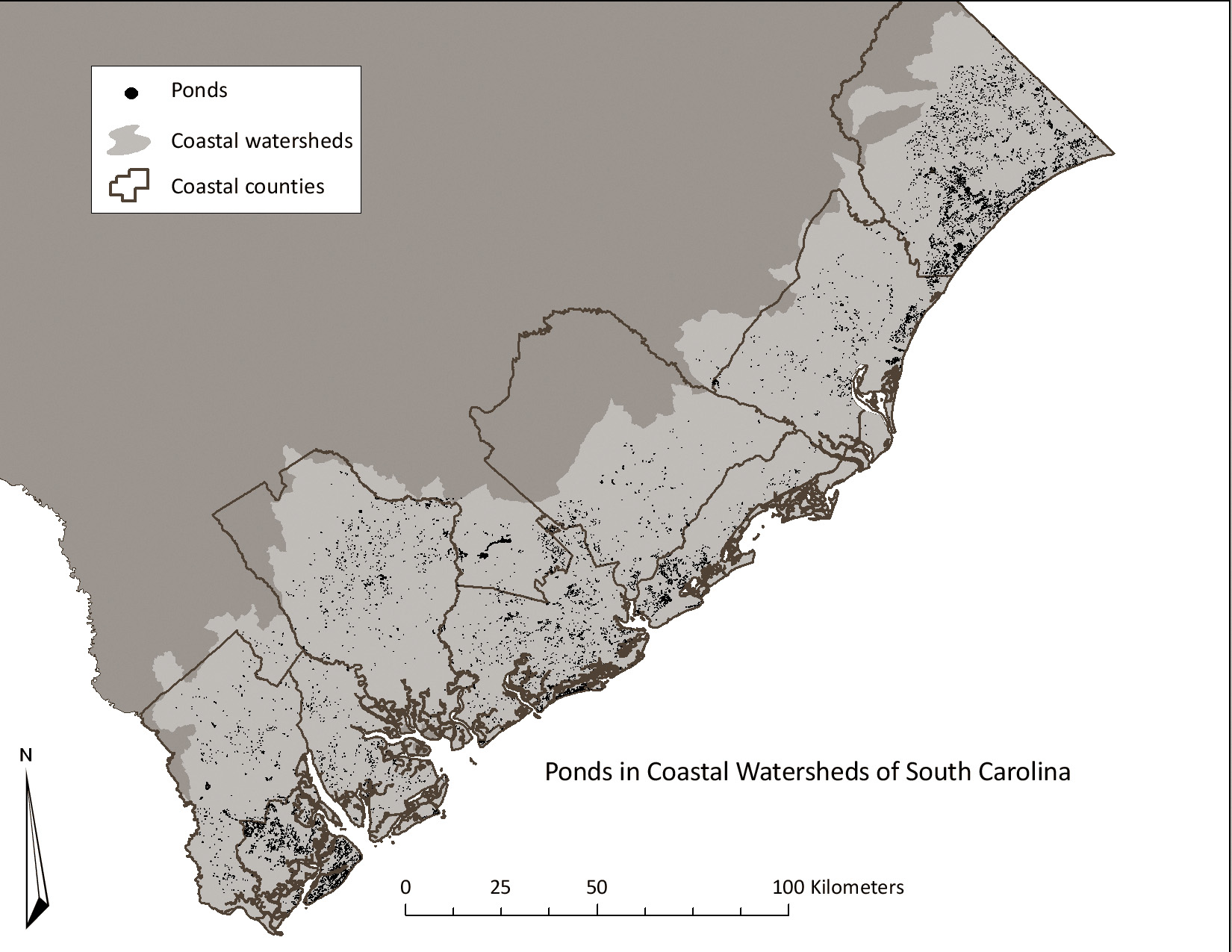 Stormwater Ponds In South CarolinaChallenges And Opportunities - South carolina coast map